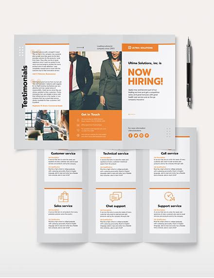 Employee Recruitment Tri-Fold Brochure Template