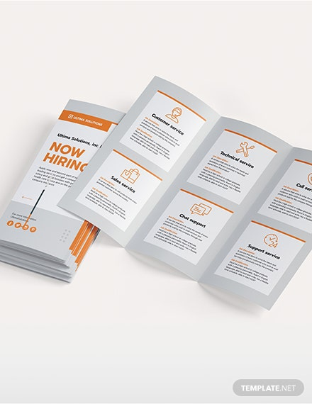 Sample Employee Recruitment TriFold Brochure