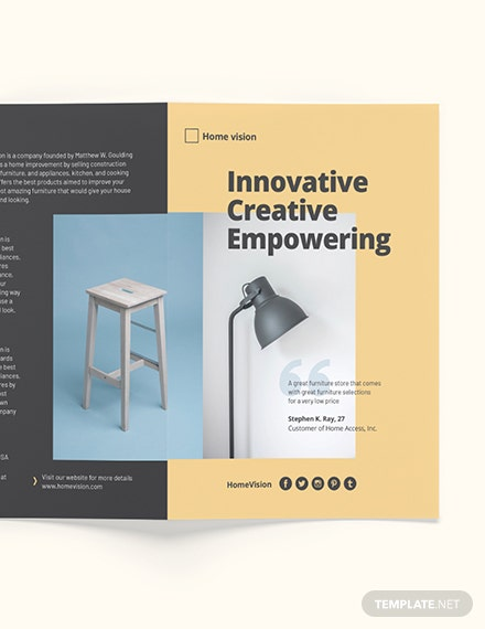 Sample Furniture Company BiFold Brochure