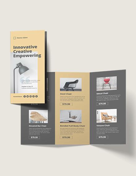 Furniture Company TriFold Brochure Template