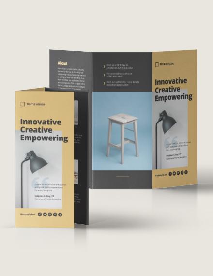 Furniture Company Tri-Fold Brochure Template