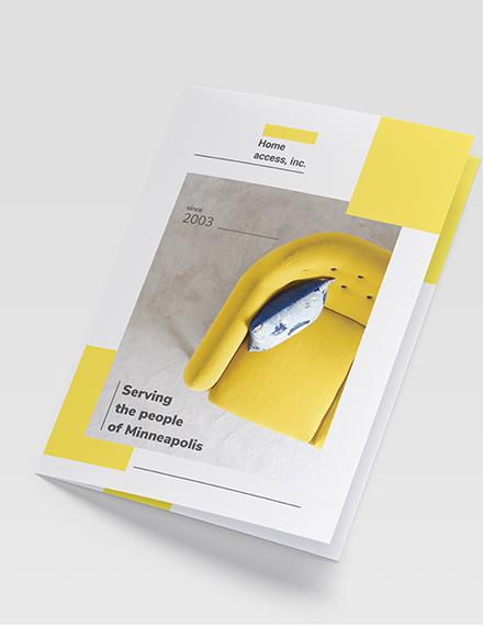 Furniture Store Bi-Fold Brochure Template