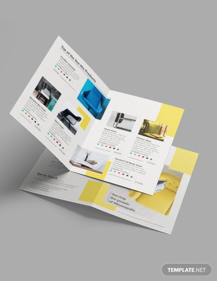 Furniture Store Bi-Fold Brochure Template