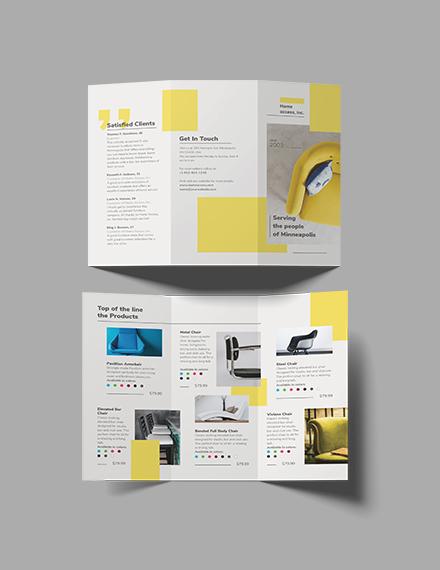 Furniture Store TriFold Brochure Template