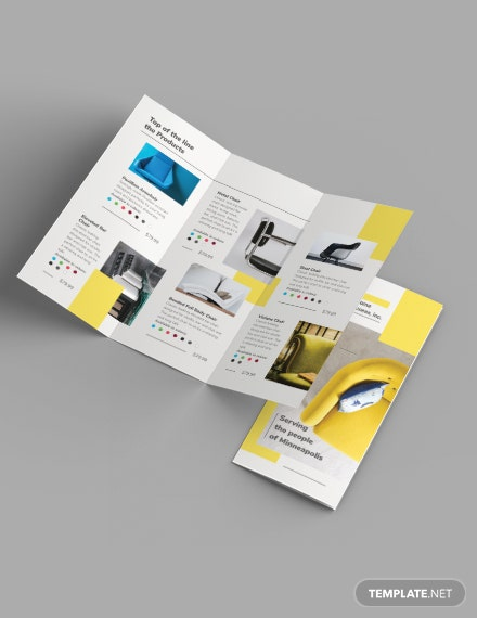 Furniture Store Tri-Fold Brochure Template