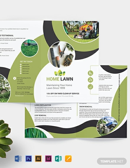 Home Care BiFold Brochure Template