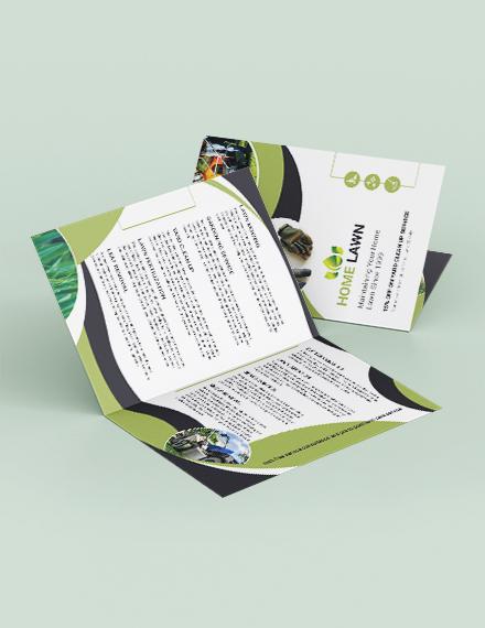 Home Care Bi-Fold Brochure Template