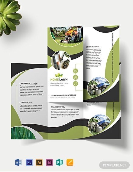 Home Care Tri-Fold Brochure Template