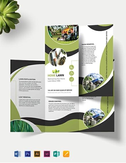 Home Care Tri-Fold Brochure Template