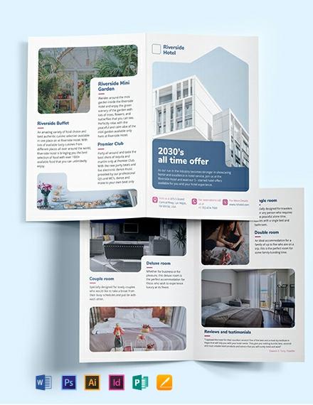 Hotel Bi-Fold Brochure Template