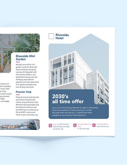 Sample Hotel BiFold Brochure