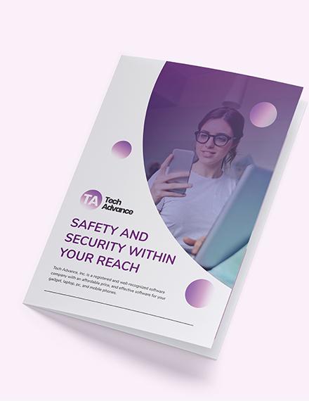 Modern Software Company Bi-Fold Brochure Template