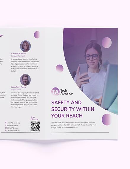 Sample Modern Software Company BiFold Brochure