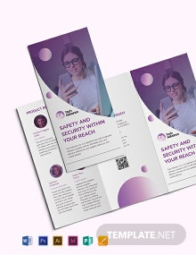 Modern Software Company Tri-Fold Brochure Template
