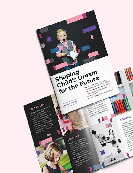 Preschool Promotional BiFold Brochure Download