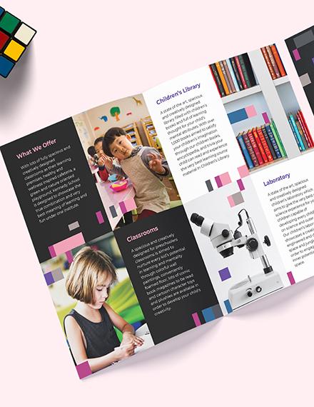 Sample Preschool Promotional BiFold Brochure