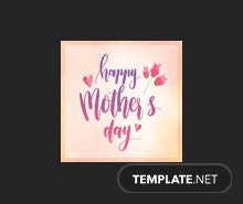 Free Mother's Day Instagram Profile Photo Template