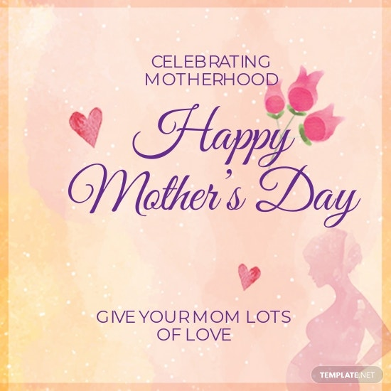 Mother's Day Instagram Profile Photo Template [Free JPG] - PSD