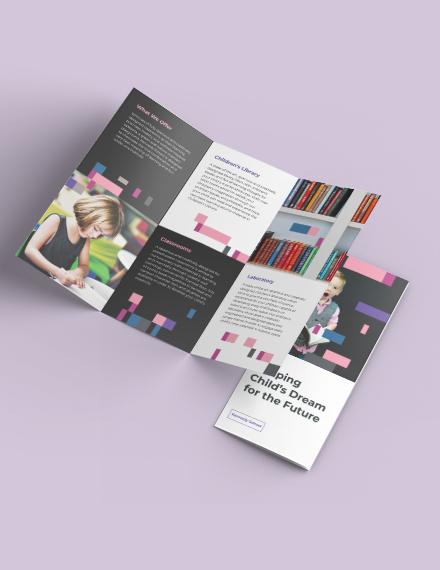 Preschool Promotional TriFold Brochure Download