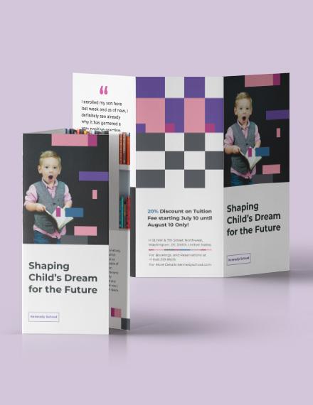Sample Preschool Promotional TriFold Brochure