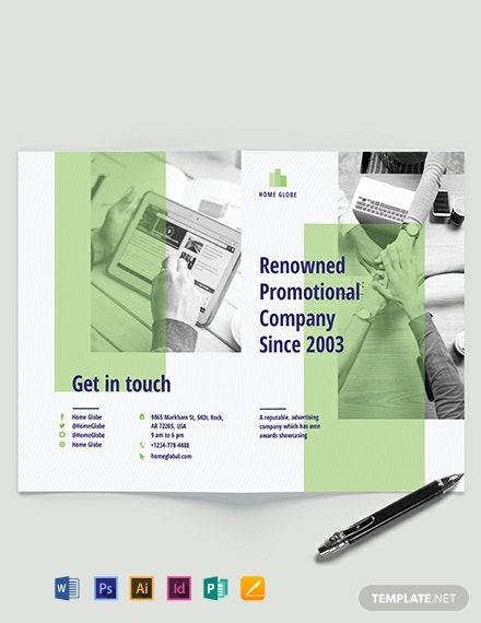 Promotional Bi-Fold Brochure Template