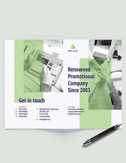 Promotional Bi-Fold Brochure Template