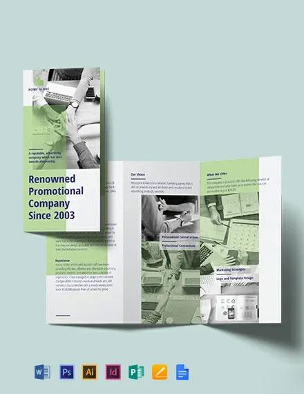 Promotional Tri-Fold Brochure Template