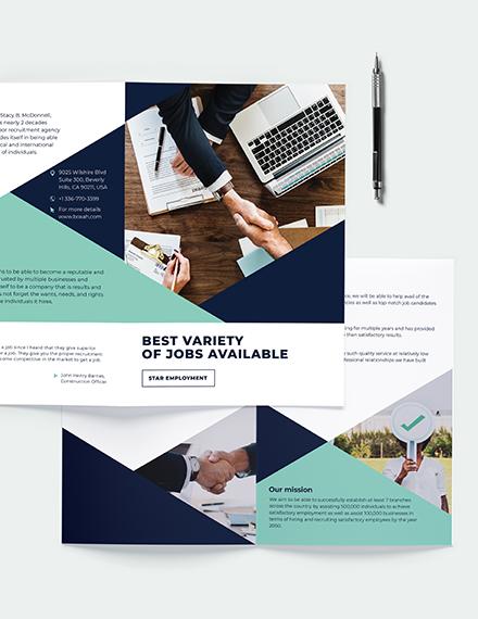Recruitment Bi-Fold Brochure Template