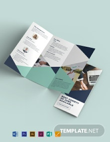 Recruitment Tri-Fold Brochure Template