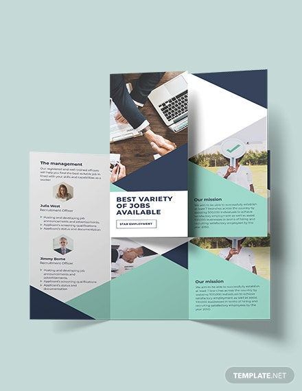 Sample Recruitment TriFold Brochure
