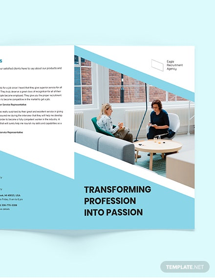 Sample Recruitment Agency BiFold Brochure