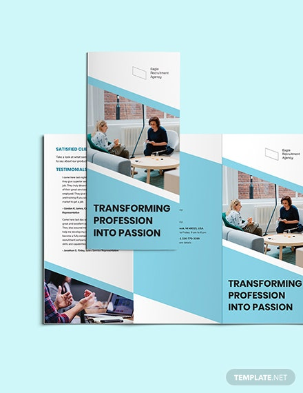 Recruitment Agency TriFold Brochure Download