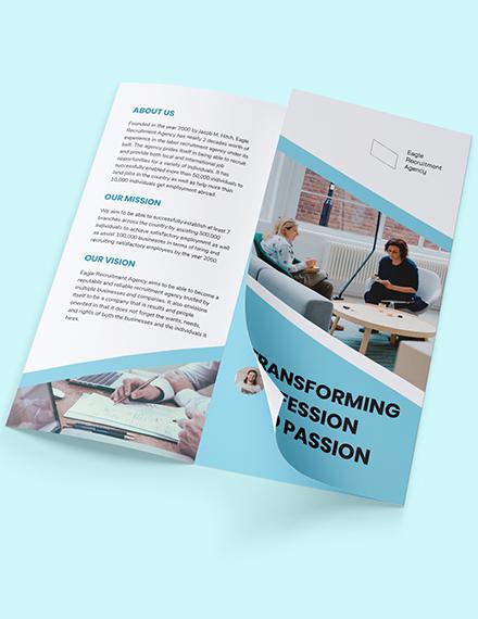 Sample Recruitment Agency TriFold Brochure