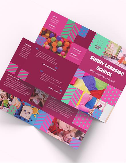 Simple Preschool BiFold Brochure Download