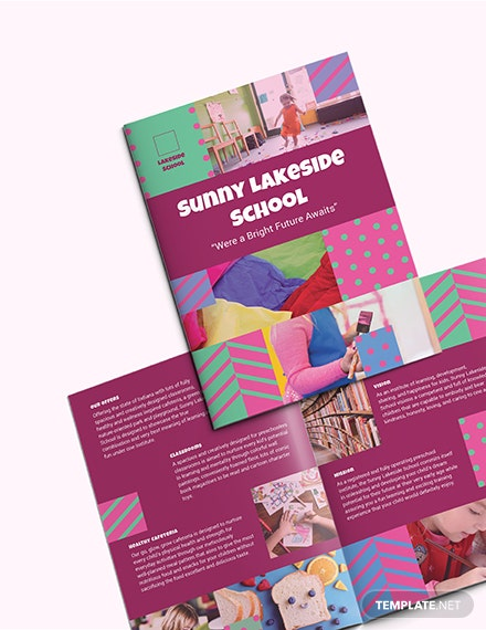 Simple Preschool BiFold Brochure Sample