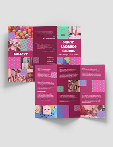 Sample Simple Preschool TriFold Brochure