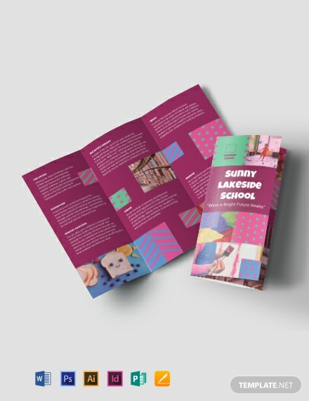 Simple Preschool Tri-Fold Brochure Template