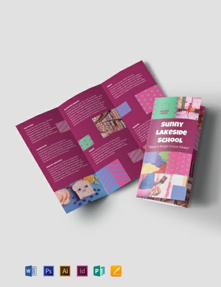 Simple Preschool TriFold Brochure Template