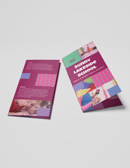 Simple Preschool TriFold Brochure Download