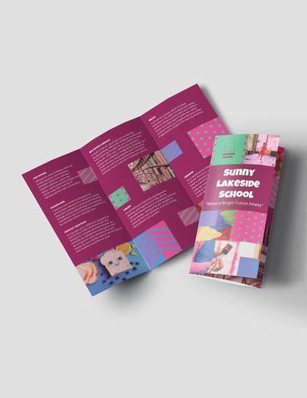 Simple Preschool Tri-Fold Brochure Template