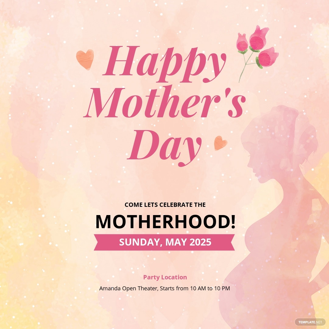 Mother's Day Instagram Post Template [Free JPG] - PSD