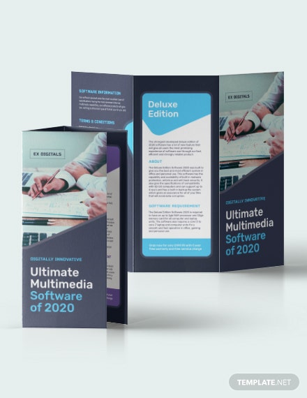 Sample Software Company TriFold Brochure
