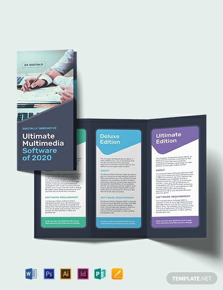 Software Company Tri-Fold Brochure Template