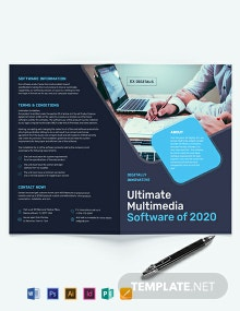 Software Company Bi-Fold Brochure Template
