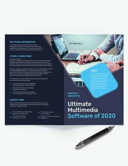 Software Company Bi-Fold Brochure Template
