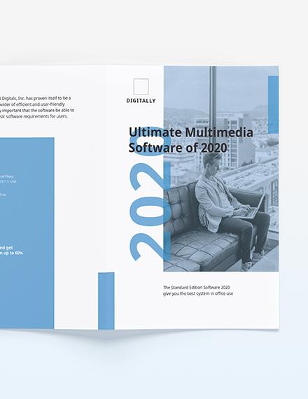 Sample Software Company Marketing BiFold Brochure
