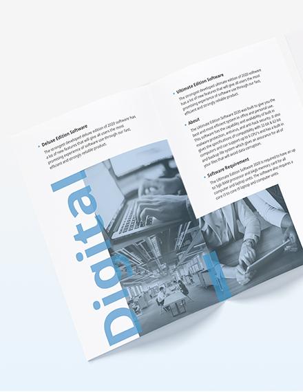 Software Company Marketing BiFold Brochure Download