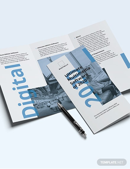 Sample Software Company Marketing TriFold Brochure