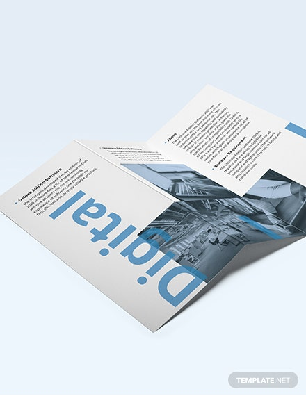 Software Company Marketing TriFold Brochure Download