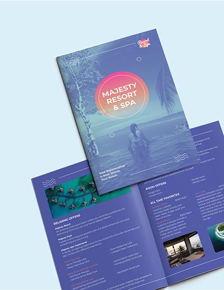 Sample Spa Resort BiFold Brochure